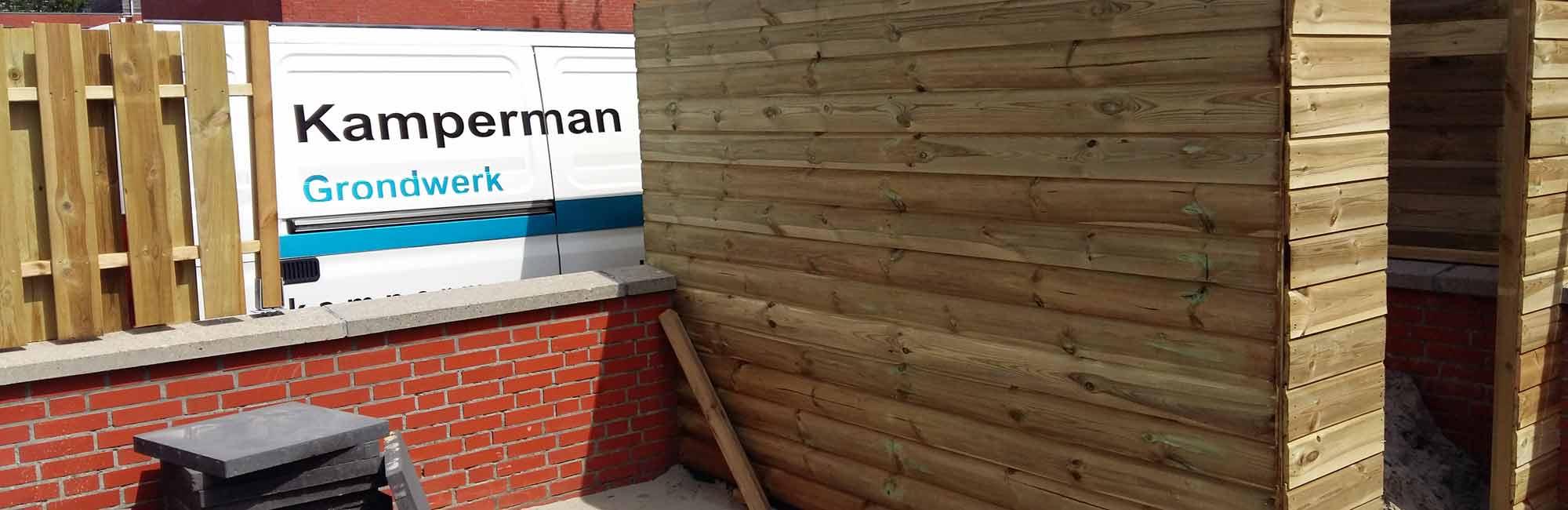 Schuttingen en tuinhuisjes - Kamperman Grondwerk Groningen Scheemda